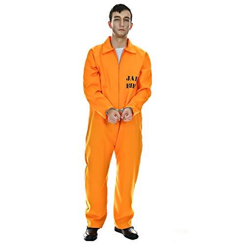 Men's Prisoner Jumpsuit Orange Scrub Fancy Costume