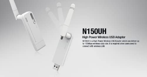 150Mbps Long Range 300M High-Power 200mw 802.11N//B//G Wireless Wi-Fi USB Adapter with WPA//WPA2 Encryption TOTOLINK N150UH