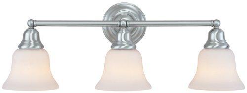- Dolan Designs 493-09 Brockport - Three Light Bath Bar, Satin Nickel by Dolan Lighting