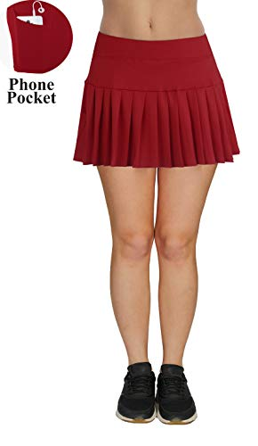 nning Golf Yoga Casual Skort with Inner Shorts Red M ()