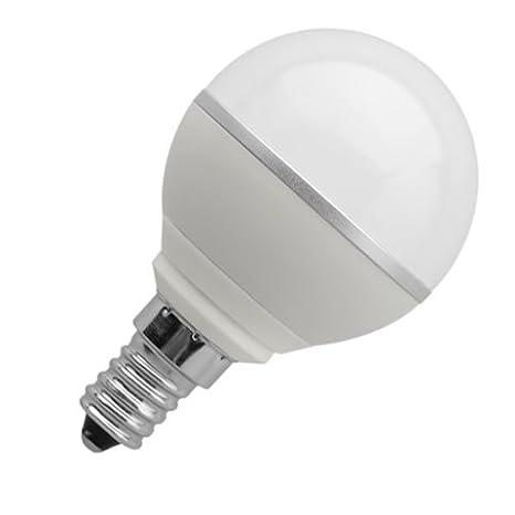 Bombilla led guli e14 5.5w equivale 35w 460lm/2700k luz blaca calida formato esferico: Amazon.es: Electrónica
