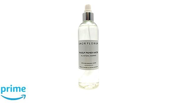 Puro sin productos químicos PREBASE PARA MAQUILLAJE-con Geranio Rosa - 250 ml-de AMOR FLORUM-Un agua para la preparación prebase de maquillaje totalmente ...