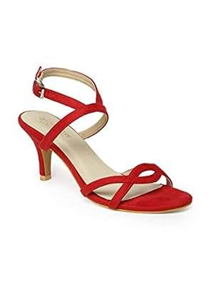 Monrow Red Heels Sandals For Women, 38 EU