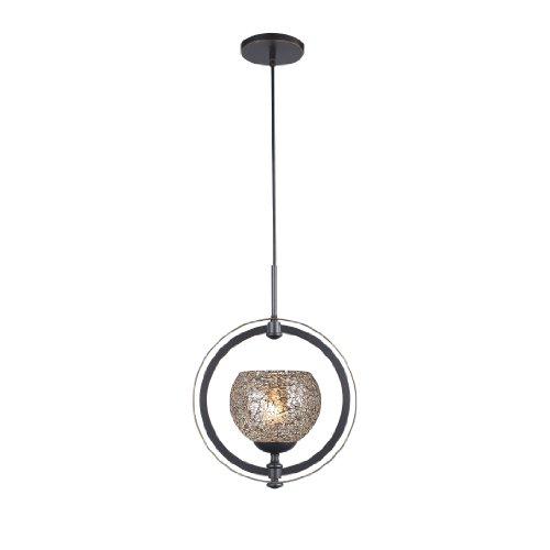 - Woodbridge Lighting 13320MEB-M00MIR Cirque 1-Light Mid Pendant, Metallic Bronze