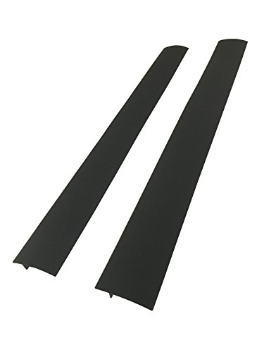 Capparis Kitchen Silicone Stove Counter Gap Cover, set of 2, Black