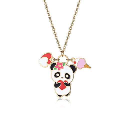 Kids Birthday Gifts Cute Little Panda Necklace Animal Charm Jewelry ()