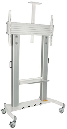 """Displays2go TVSTN80 TV Stand for 60"""" to 100"""" Flat Screen Monitors, Rolling, with Video Camera and Shelf, Locking Wheels"""