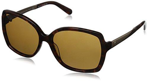 Kate Spade Women's Darilynn Polarized Square Sunglasses, Havana & Brown Polarized, 58 - New Sunglasses York
