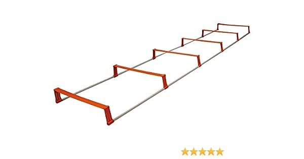 Sveltus 6 Vallas + – Escalera de Agilidad para Adulto, Color Naranja y Gris: Amazon.es: Deportes y aire libre