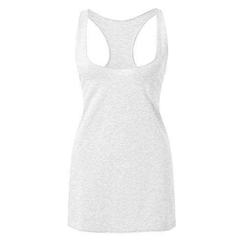 - LEXUPA Women's Fashion V-Neck Solid Sleeveless Loose Tank Top Blouse(White,X-Large)