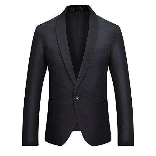 Revel Button Fit Lunghe Slim Unita Giacca Maniche Blazer A Cappotto Casual Schwarz Da Autunno Fashion Tinta Giovane Lavoro Uomo Outwear Primavera Saoye ZS6wq6
