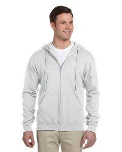 Jerzees 8 oz., 50/50 NuBlend Fleece Full-Zip Hood 3XL - Ash Grey Sweatshirt