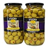 Mario Manzanilla Spanish Olives - 2/21 oz. jars/2pk