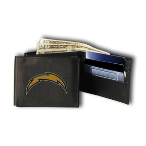(Rico Sporting Goods 138768 San Diego Chargers Mens Black Leather Bi-fold Wallet)