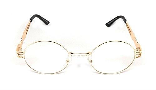 d66eb31d73 WebDeals - Round Circle Metal Sunglasses Vintage Steampunk Bold Frame Design