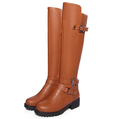 Medio Donna Fashoin Tacco Brown Boots Vulusvalas tCdqxw5tR