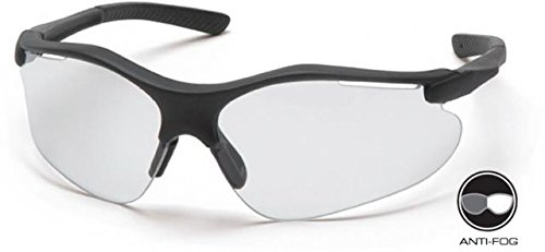 Pyramex Fortress Safety Glasses - Clear Anti-fog Lens, Black