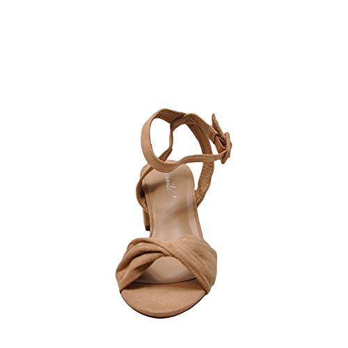 Bonnibel Edda 1 Womens Casual Ankle Strap Open Toe Heels Nude Qo6UkcHRg