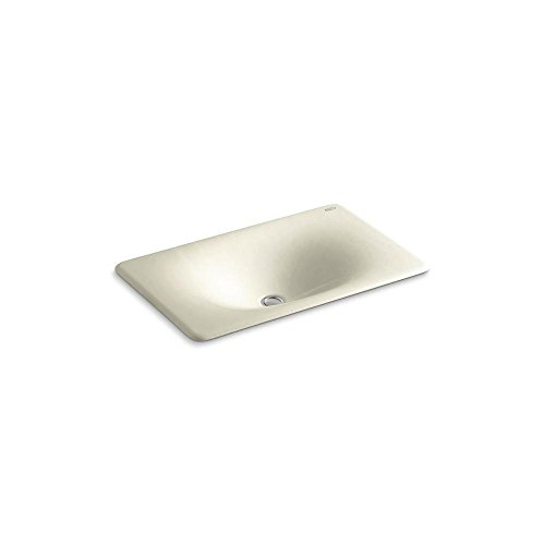 KOHLER K-2826-FD Iron Tones Cast Iron Undercounter Self-Rimming Bathroom Sink, 24-3 4 X 15-5 8 , Cane Sugar