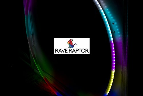 LED Hula Hoop - 160 LEDs 90cm 300 Different Patterns - Speed Adjustment - Wireless Remote - Perfect for Festivals and Rave by Rave Raptor (Image #6)