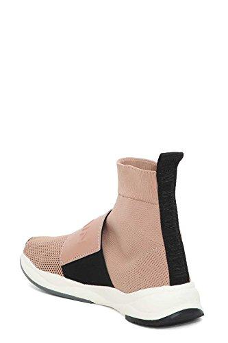 Balmain Damen S8FC143PCZS1026 Rosa Leder Hi Top Sneakers