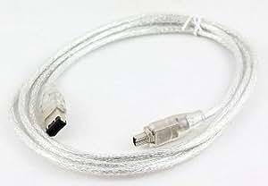 De alta calidad - Cable Firewire para videocámara Canon MV890 MiniDV - 4 A 6 pin Cable i.LINK (para PC y Mac) - AAA Products - 12 meses de garantía