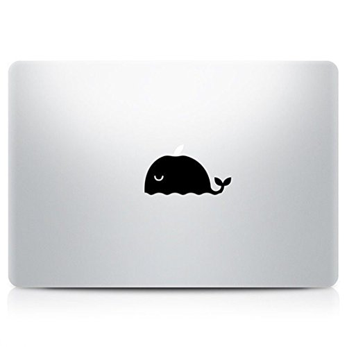 Optimum Popular Retina Animal Whale Macbook Laptop Stickers Decal Mac Pro Air Black