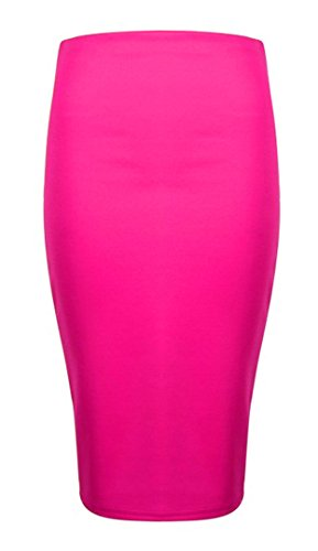 Gems Clothing - Falda - Estuche - para mujer Hot Pink