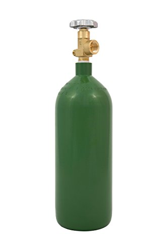 Cyl-Tec 20CF Nitrogen Gas Tank - Steel cylinder with CGA 580 valve - Great for dispensing nitro beer or coffee ()