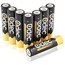 Odec AAA Rechargeable Batteries - 8 Pack Ni-MH 1000mAh Deep Cycle 1.2V Battery Pack ()