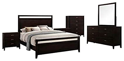 Amazon.com: Kovar 6 Piece Bedroom Set, Queen, Dark Cherry ...