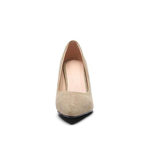Primavera de Ocupacional Alto con la Grandes el de Otoño Tacón cantidades los Mujer Satén Zapatos Bien y Zapatos Zapatos Funcionan de Estados Durante Calzado Tacón Unidos los de Europa Apricot en de TSzT41pq