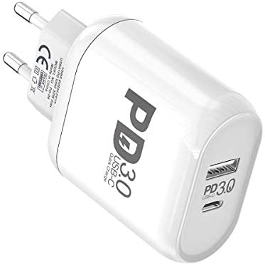 MOXOM 32 W, 2 Puertos USB C Cargador, Power Delivery 3.0 ...
