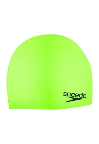 (Speedo Elastomeric Solid Silicone Swim Cap, Sport Neon, One Size)