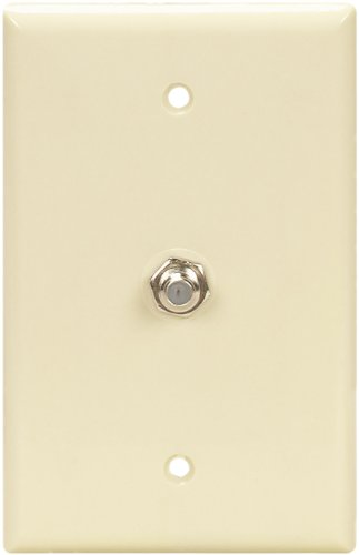 Eaton 2072A-SP-L Flush Mount Mid Size Wall Plate with Coaxial Adapter, (Eaton Cable)