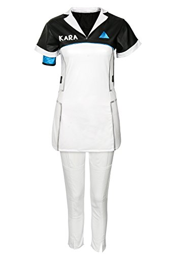 Price comparison product image COSFLY Become Human Kara Cosplay Costume Women T-Shirt Dress Pants Uniform Outfits (Small, Outfits)