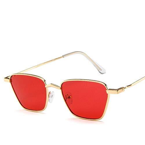 (BAIF Retro Square Sunglasses Metal Frame Korean Sunglasses Europe and Diamond Rhombus Ocean Sunglasses)