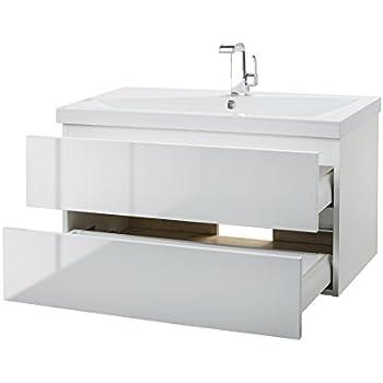 Cutler Kitchen U0026 Bath FVBLANCO36 Sangallo 36 In. Wall Hung Gloss Bathroom  Vanity, Blanco