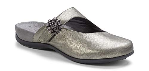 Vionic Women's Rest Joan Mule Pewter Metallic 6M US
