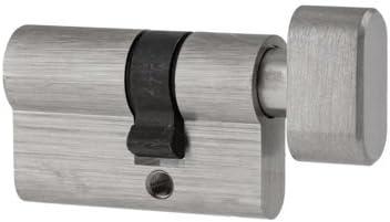 Cilindro de pomo para herrajes de puerta de cristal 20/30 y 30/20, apertura hacia arriba