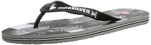 Quiksilver Molokai Checkma - Sandalias para hombre Negro / Gris / Blanco (Black / Grey / White)