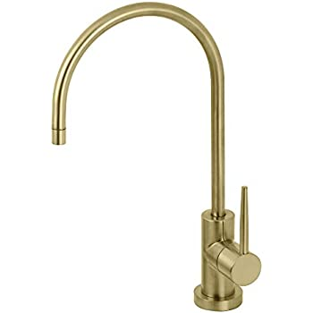Kingston Brass KS8197NYL New York Single-Handle Cold Water Filtration Faucet, Brushed Brass