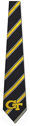 Georgia Tech Yellow Jackets Striped Mens Neck Tie with NCAA College Sports