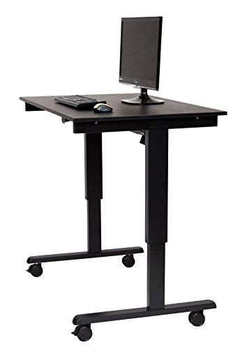 Electric Standing Desk (Desk Length: 48˝, Black Frame / Black Oak Top) by Stand Up Desk Store