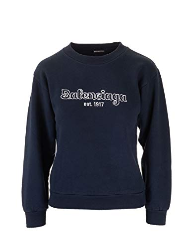 Balenciaga Luxury Fashion Boy 558145TFV218065 Blue Cotton Sweatshirt | Fall Winter 19