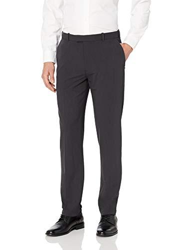 Van Heusen Men's Flex Straight Fit Flat Front Pant, Charcoal, 32W x 30L