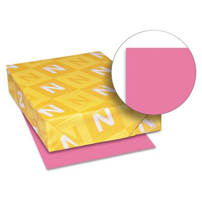 Astrobrights Colored Card Stock, 65 lb., 8-1/2 x 11, Plasma Pink, 250 Sheets, Sold as 250 Sheet