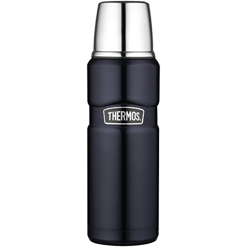 Thermos Stainless King 16 Ounce Compact Bottle, Midnight Blue (Thermos Stainless Steel King 24 Ounce Drink Bottle)