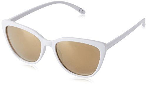 Foster Grant Women's Macy Wht Cateye Sunglasses, White, 56.7 - Sunglasses Mirroed