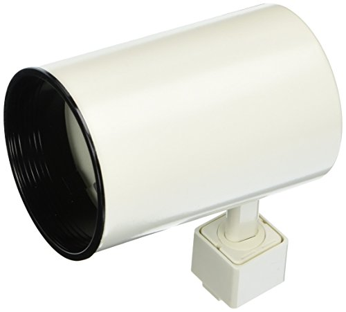 PLC Lighting TR305S WH Track Lighting 1 Light Cylinder Collection, White Finish - 1 Light Cylinder
